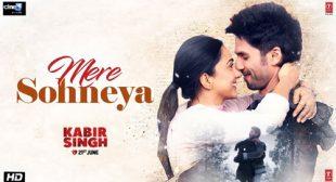 Mere Sohneya Lyrics from Kabir Singh