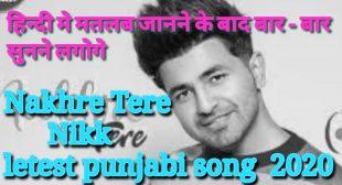 Nakhre tere Nikk lyrics with hindi meaning