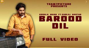Barood Dil Song Lyrics