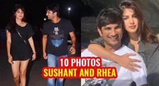 10 photos of Sushant Singh Rajput and rumored girlfriend Rhea Chakraborty.