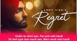 रिग्रेट Regret Lyrics – Ammy Virk