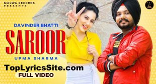 Saroor Lyrics – Davinder Bhatti – TopLyricsSite.com