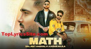 Math Lyrics – Daljeet Chahal   Karan Aujla – TopLyricsSite.com