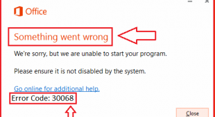 Easy Method to Solve MS Office.com/setup Error Code 30068