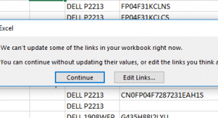 """Excel Error """"We Can't Update Some of the Links in Your Workbook"""" Www.office.com/setup"""