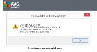 Ways To Troubleshoot AVG.Com/Retail Error Code 651