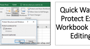 Quick Way To Protect Excel Workbook From Editing – Youtube