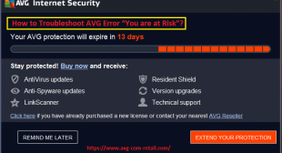 """What is the Method To Fix AVG Antivirus Error """"You are at Risk""""? Www.Avg.com/retail"""