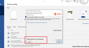 How to Fix it? If Microsoft Word hasn't Been Activated! Www.Office.com/setup