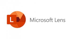How do I scan a document using Microsoft lens?